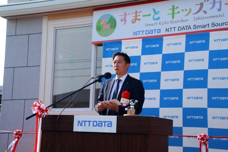 開所式の模様 来賓ご挨拶 石巻副市長佐藤様
