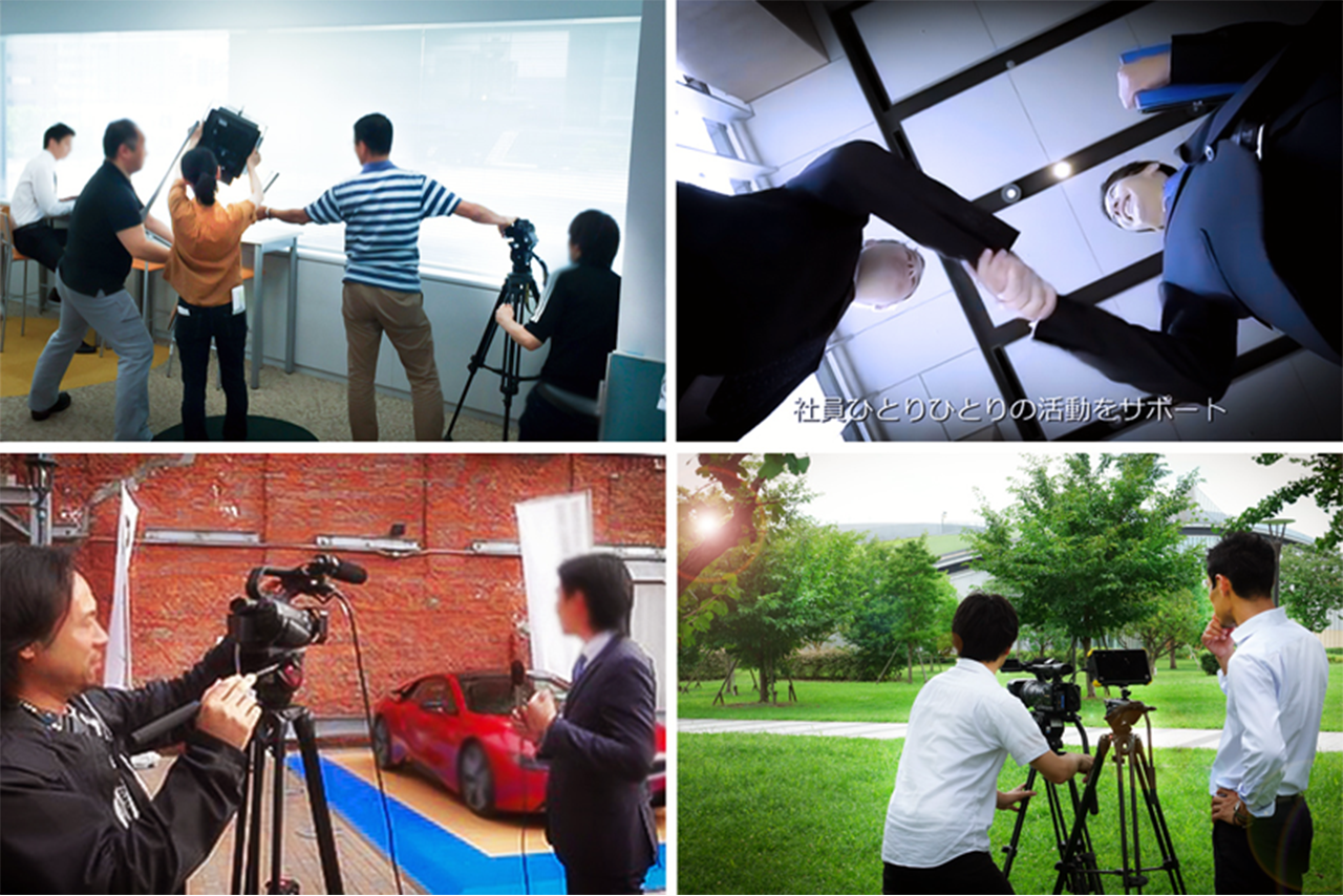 映像制作、撮影・編集の様子